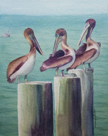 Final painting Pelicans IMG 2635. warmer