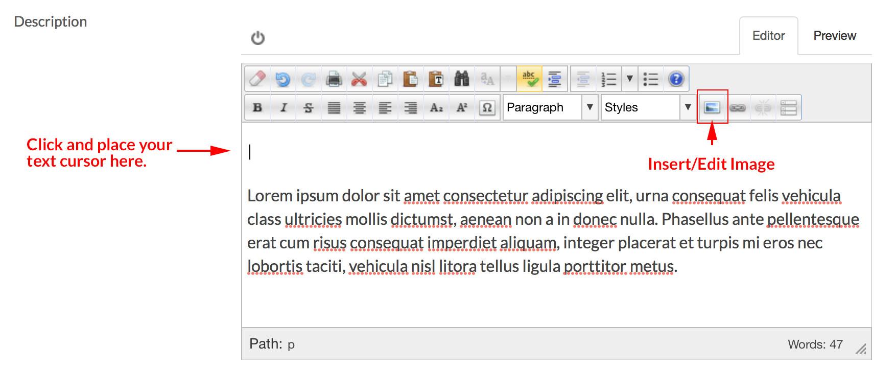 editor place cursor image icon