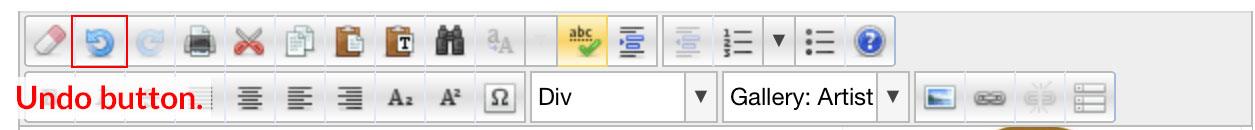 editor undo button