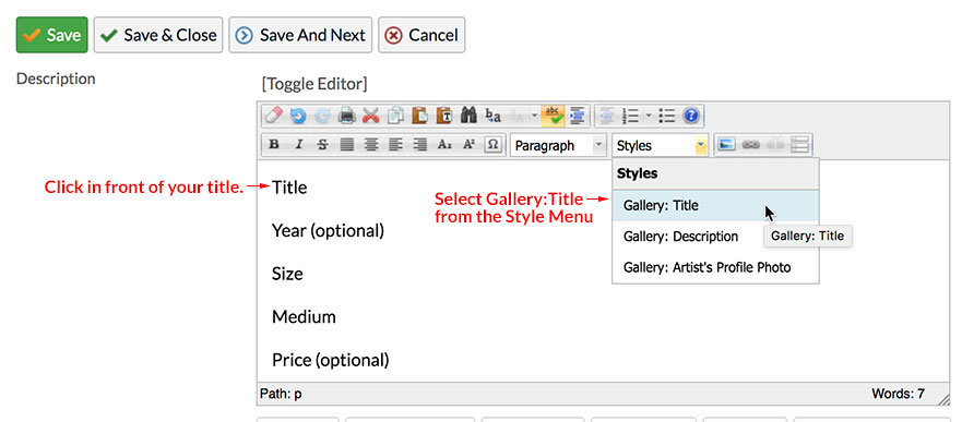 manage image add text step 2