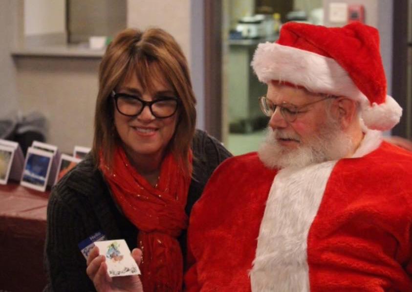 Barbara Egr and Santa